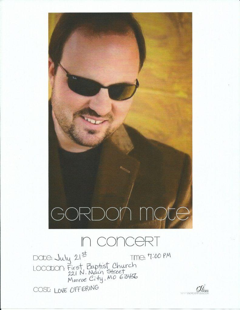 Gordon Mote flyer