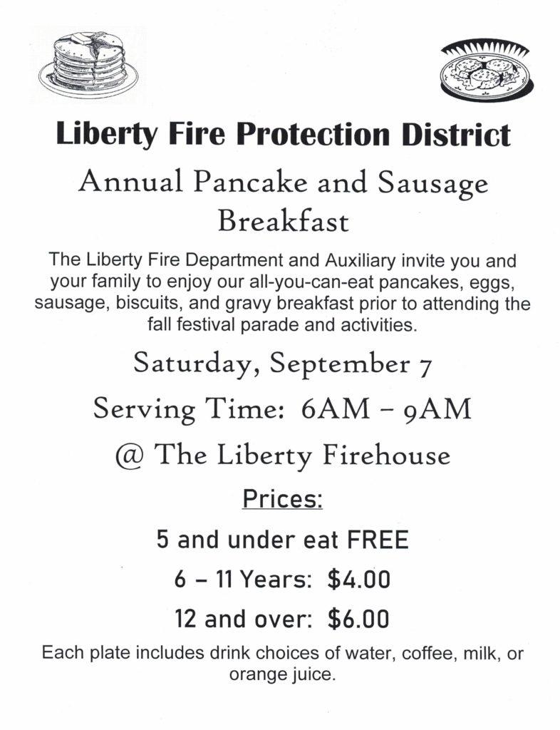 2019 Pancake breakfast flyer