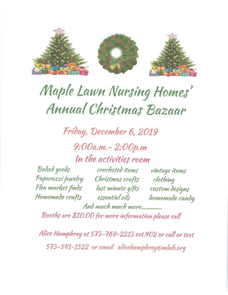Annual Christmas Bazaar