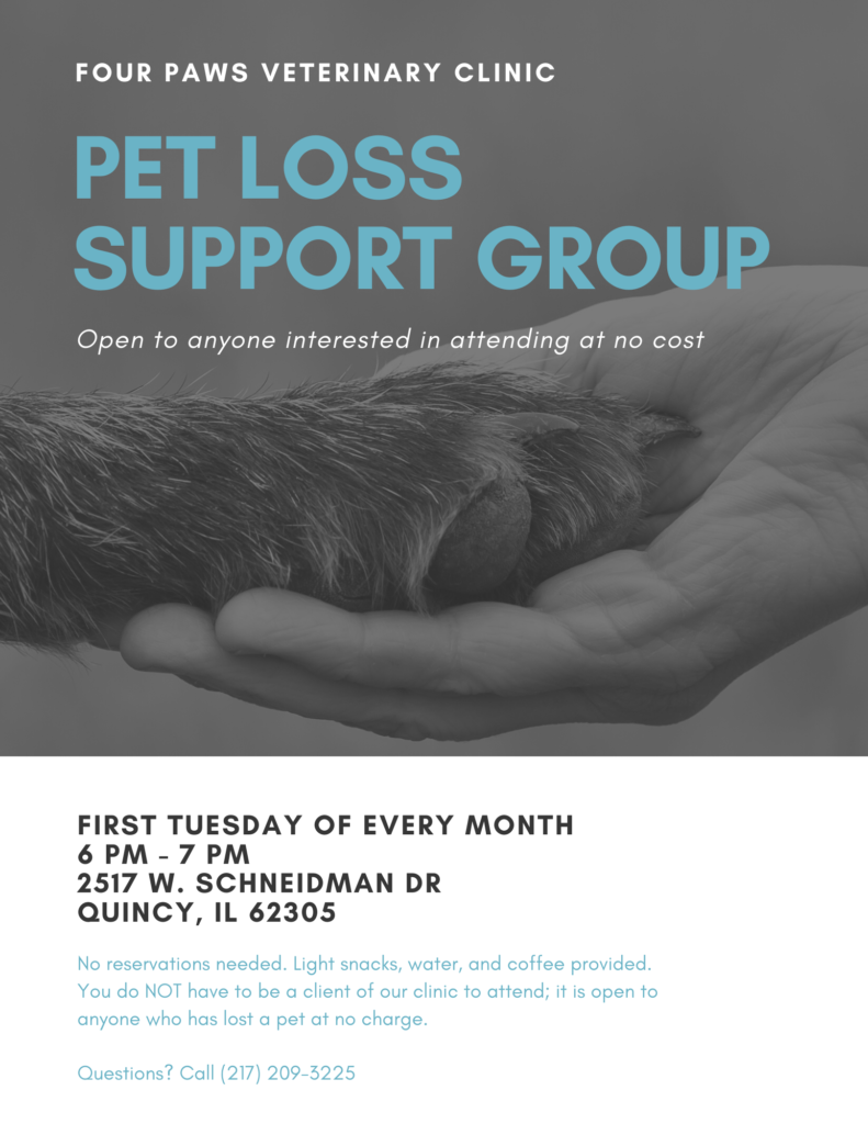 Pet Loss Support Group - Flier