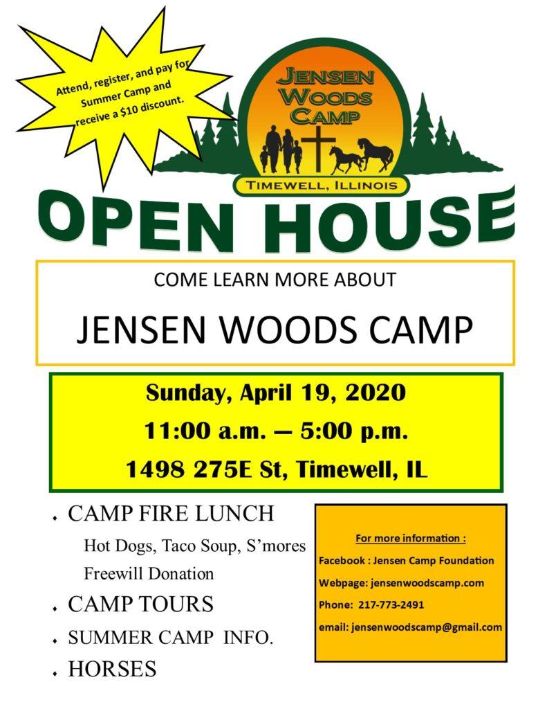 open house flyer April 2020