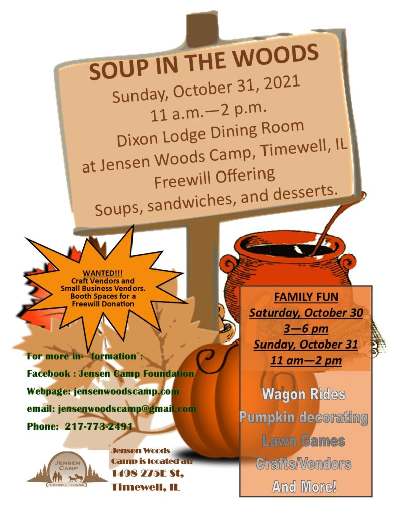 Soup in the Woods flyer 2021